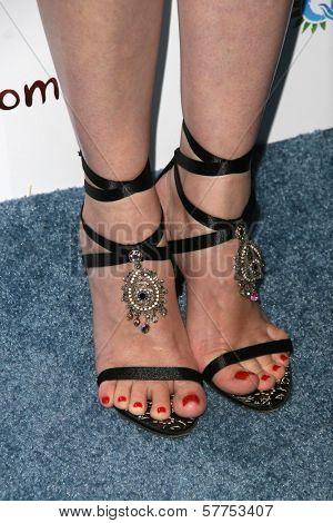 Kiersten Warren's shoes at the Australians In Film 2009 Breakthrough Awards. Hollywood Roosevelt Hotel, Hollywood, CA. 05-08-09