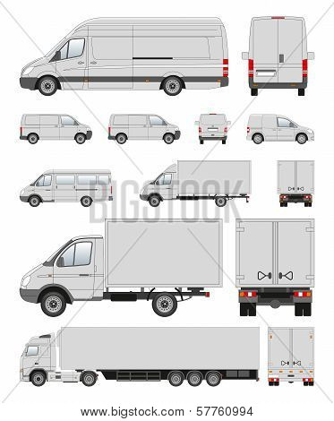 Commercail transport contour illustration for other uses poster