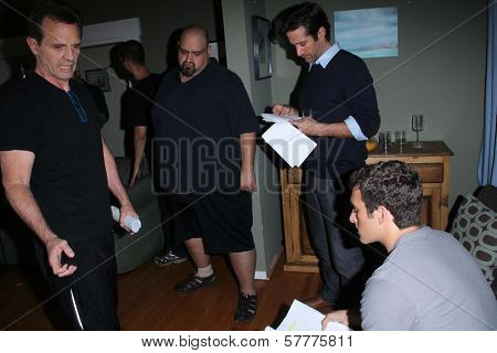 Michael Biehn, Richard Gunn, Matthew Ziff on the set of