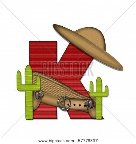 Alphabet Bandido K