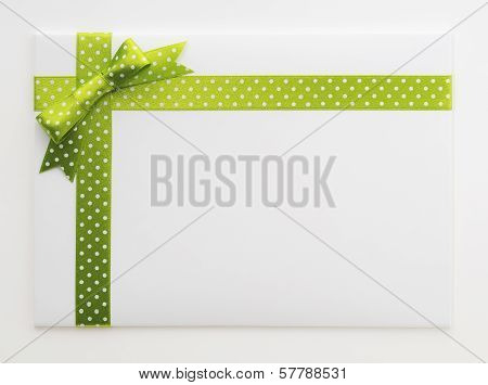 Blank Gift With A Green Bow