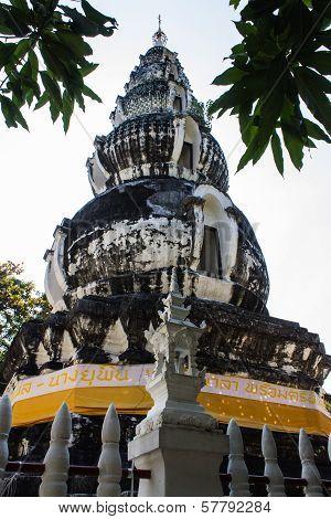 Pagoda In Wat Kru Toa , Chiangmai Thailand With Sunlight poster