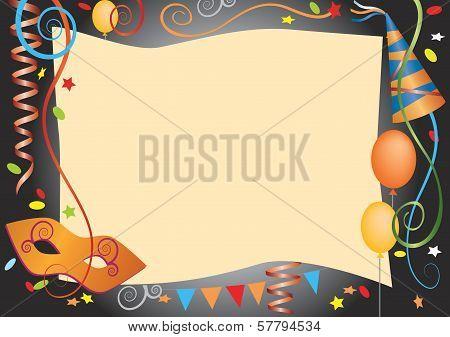 Carnival decorative background