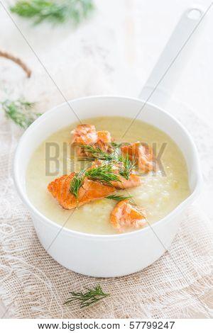 Cauliflower celeriac soup