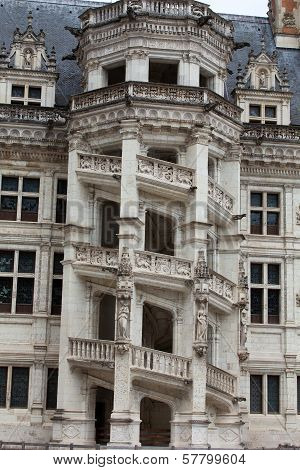 The Royal Chateau de Blois. Spiral staircase in the Francis I wing
