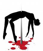vector symbolic illustration on violence against women poster