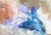 Colorful abstract background shiny polygon. This is file of EPS10 format. poster