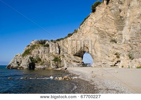 Natural arch in Palinuro, Italy