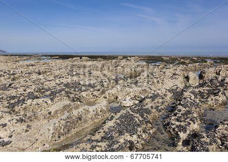 Beach Of Dieppe, Côte D'albatre, Haute-normandie, France