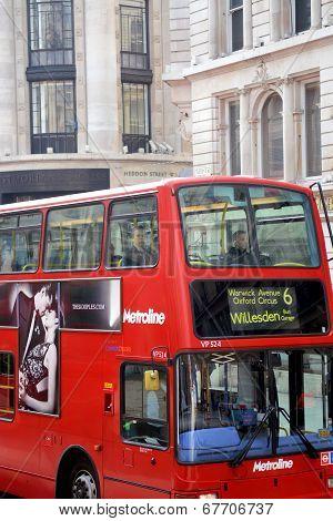 Close up London Double Decker