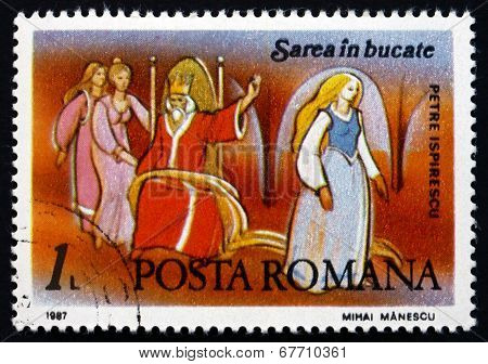 Postage Stamp Romania 1987 Scene From Fairy Tale