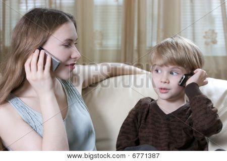 Family Phone Talking