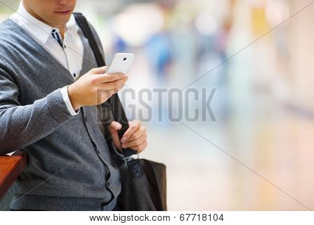 Man in shopping mall