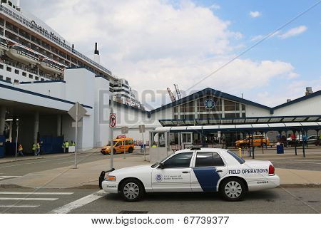 US Department of Homeland Security US Customs and Border Protection providing security