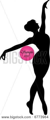 gymnast with ball