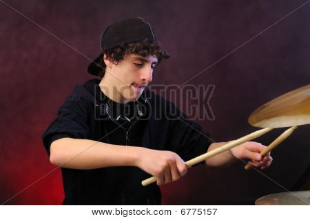 Teenage drummer
