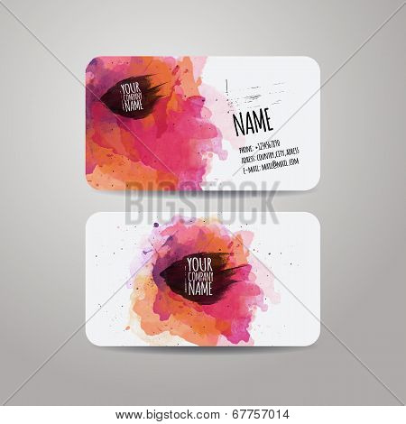 Vector template business cards