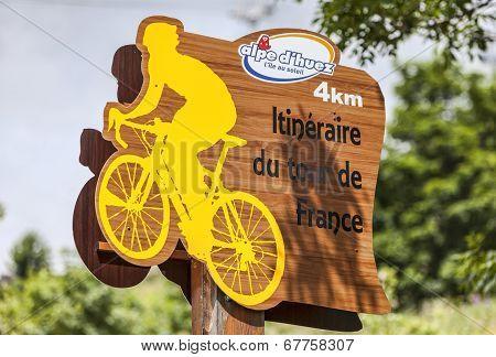 Road Indicator During Tour De France