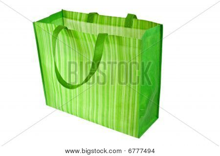 Empty Green Reusable Shopping Bag