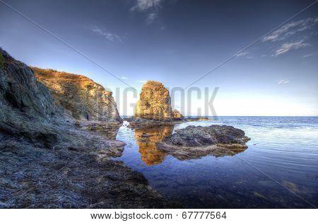 Beautiful waterscape in Rezovo  Bulgaria