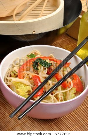Scrimp Egg Noodle With Organic Stir Fry