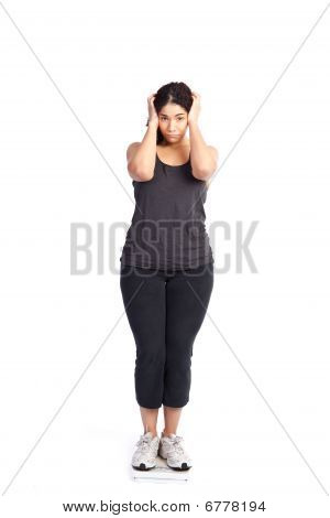 Woman On Weight Scale