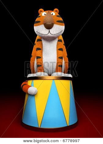 Tiger symbol of New Year 3D rendering poster
