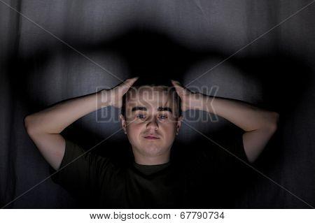 Man Looking Down Self-satisfied