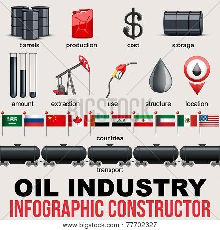 Oil Industry Infographic design Elements