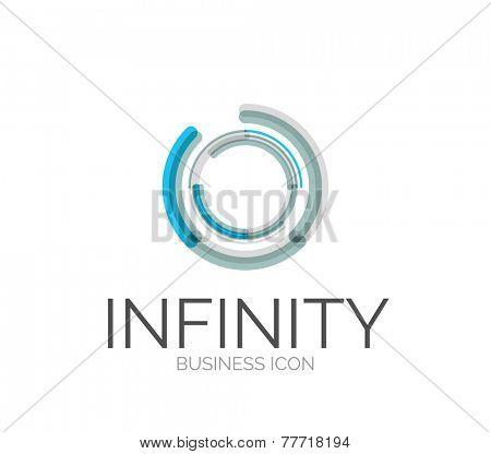 Minimal line design logo, business icon, branding emblem poster