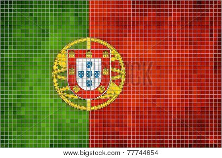 Mosaic Flag of Portugal