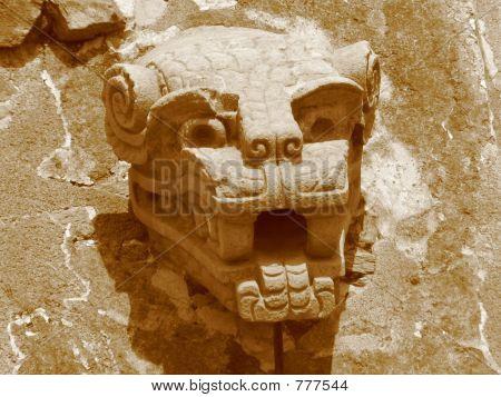 Sculpture At Quetzalcoatl Temple