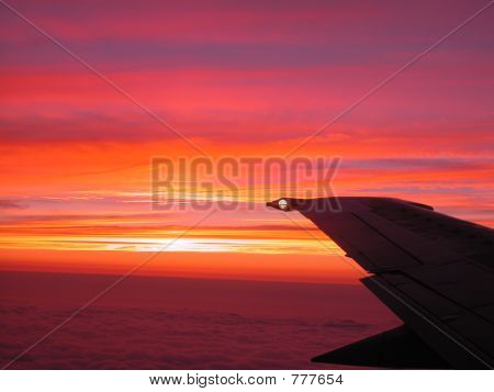 sunset from the sky