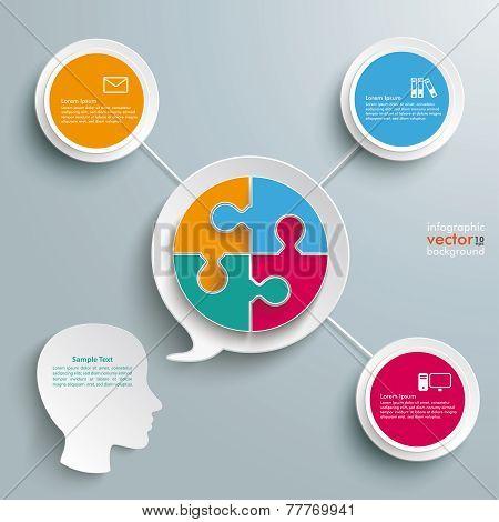 Head Speech Bubble Circle Puzzle
