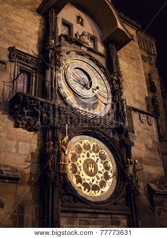 The Astronomical Clock. Prague. Czech Republic.