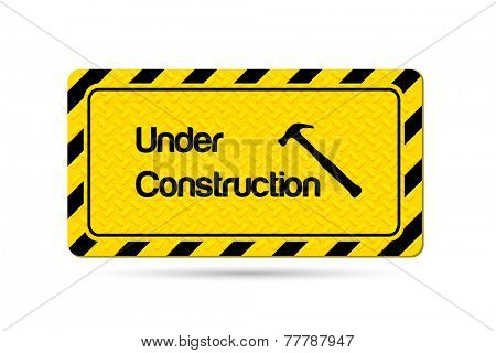 Under Construction Vector Illustration Sign