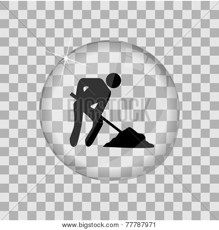 Construction Glass Vector Illustration