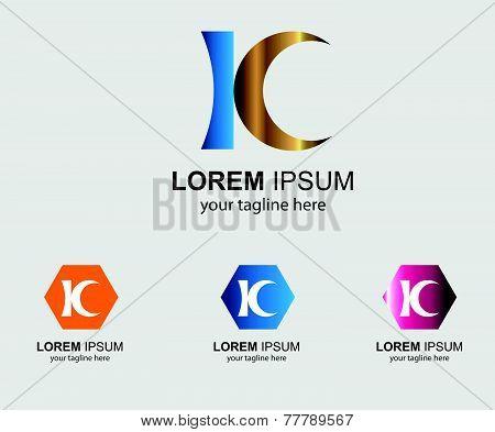 Kc letter logo symbol - K letter