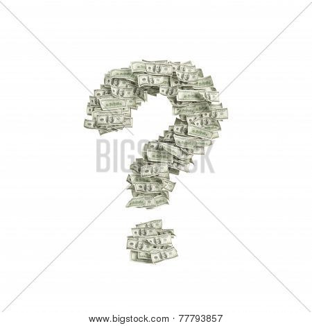 Dollar In Form Question Mark