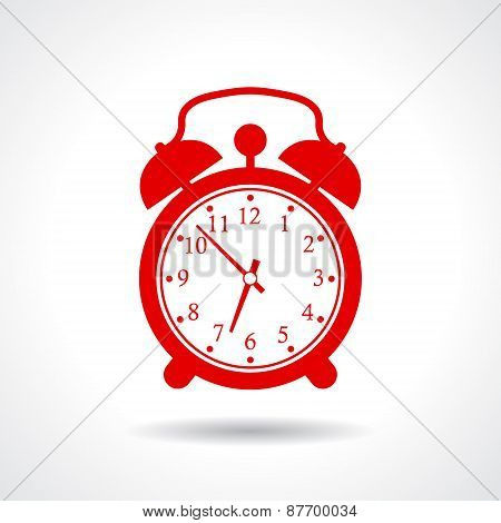Alarm clock icon isolated on white background poster