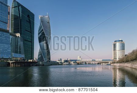 Bridge Over The River To The Moscow City