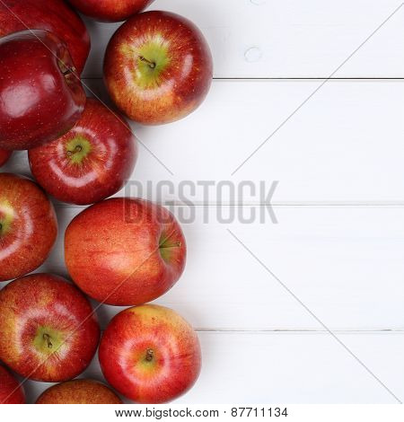 Red Apple Apples Fruits With Copyspace