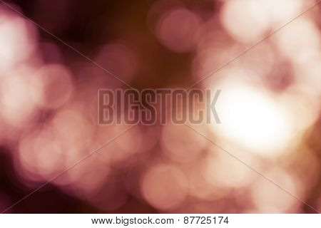 Natural Outdoors Bokeh Light Background, Yellow Tone In Hilight And Red Tone In Shadow