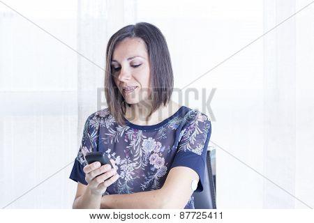 Girl Looking At A Reader .