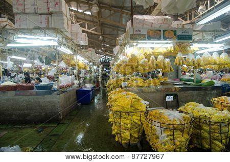 Bangkok - April 04 : Flower Market Name