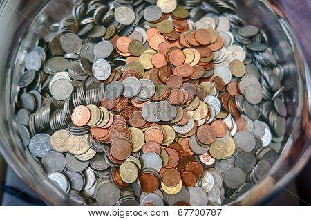 Thai Coins Glass Bucket