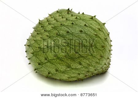 Tropical fruit called sour sop on white background. poster