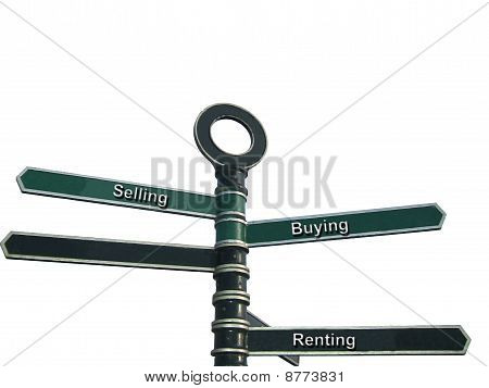 Selling, Buying And Letting Themed Street Sign