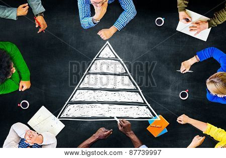 Pyramid Top Leadership Development Promotion Concept