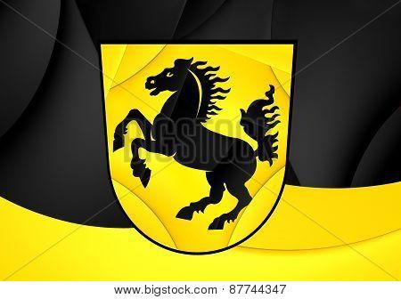 Flag Of Stuttgart, Germany.